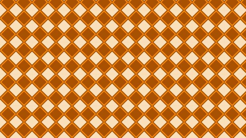 Orange Geometric Square Pattern