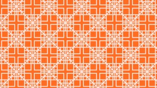 Orange Seamless Geometric Square Pattern Vector Image