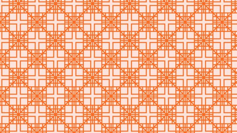 Orange Seamless Geometric Square Pattern Background Illustrator