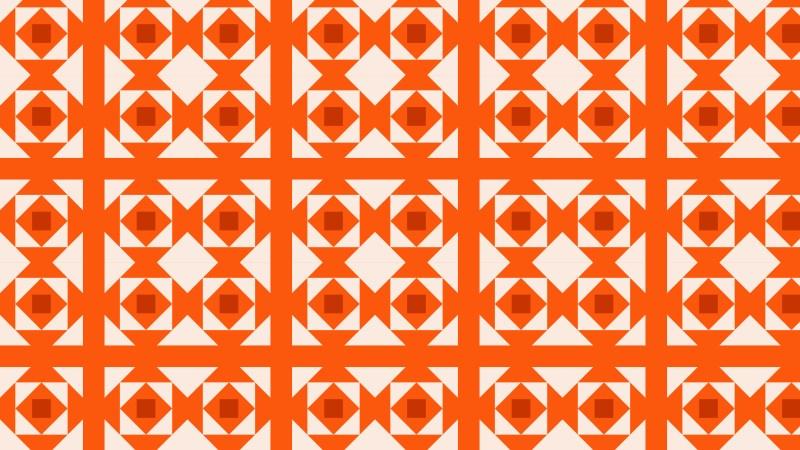 Orange Seamless Geometric Square Pattern
