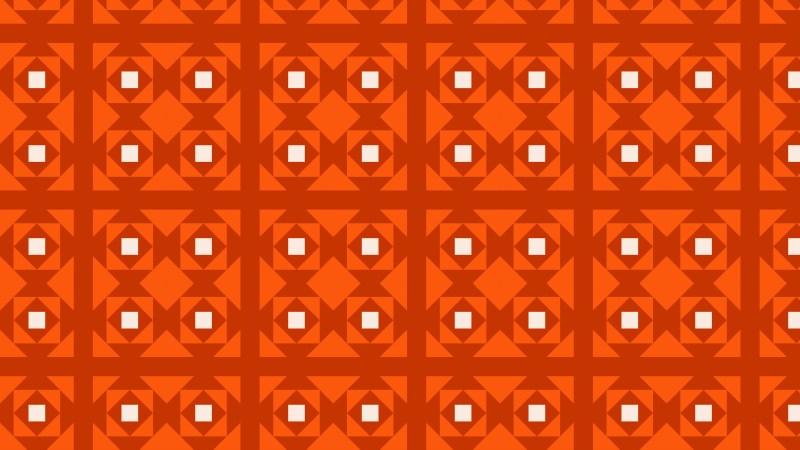 Dark Orange Seamless Geometric Square Background Pattern