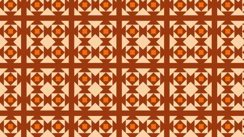 Orange Square Pattern Background Illustration