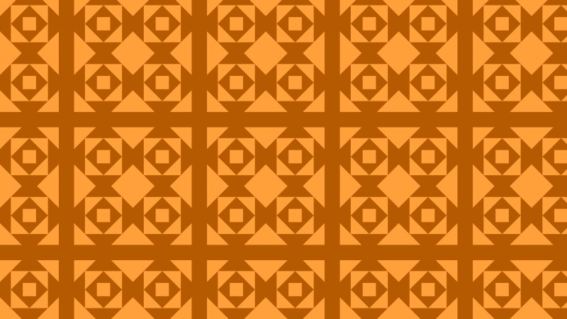 Orange Seamless Square Pattern Background Vector Illustration