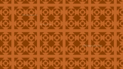 Dark Orange Seamless Square Background Pattern Vector