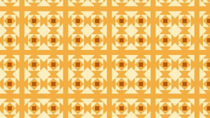 Light Orange Seamless Geometric Square Pattern Vector Art