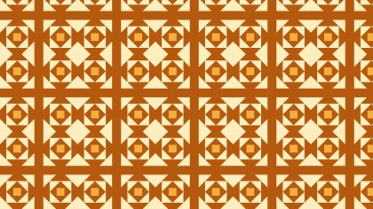 Orange Seamless Geometric Square Pattern Background Graphic