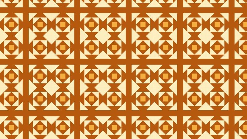 Orange Seamless Geometric Square Pattern Background Graphic