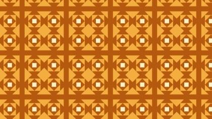 Orange Seamless Geometric Square Background Pattern Illustration