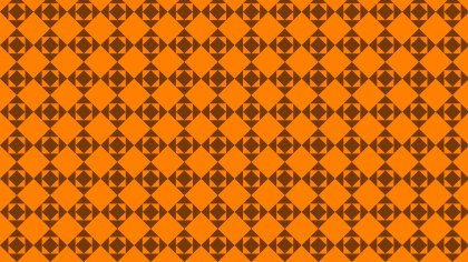 Dark Orange Square Background Pattern