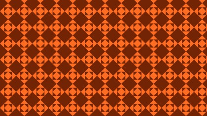 Dark Orange Seamless Square Pattern