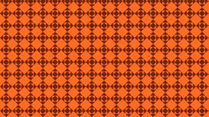 Dark Orange Seamless Square Pattern Background