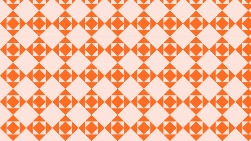 Orange Seamless Square Background Pattern