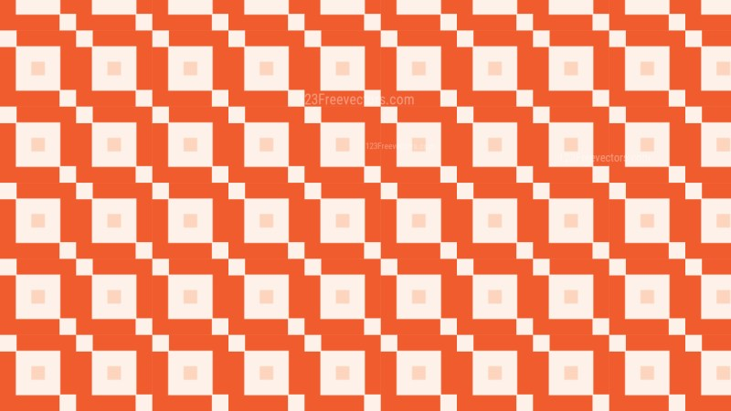 Orange Square Pattern Vector Graphic