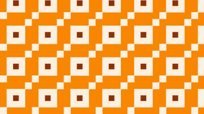 Orange Square Pattern Background Vector Image