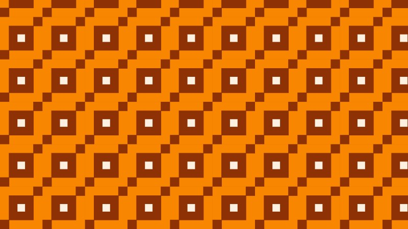 Orange Geometric Square Pattern Vector Illustration
