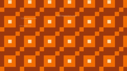 Dark Orange Geometric Square Pattern Background Vector