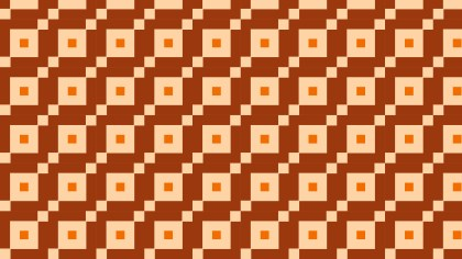 Orange Seamless Square Pattern Graphic