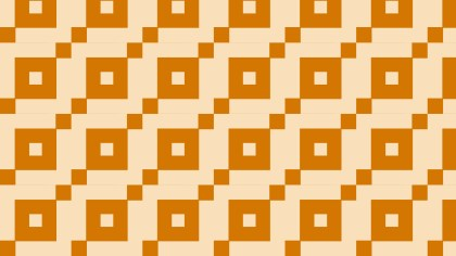 Orange Seamless Square Pattern Background Illustration