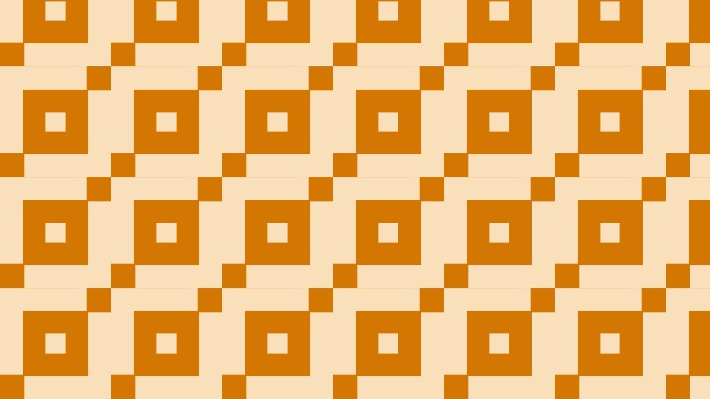 Orange Seamless Square Pattern Background Illustration