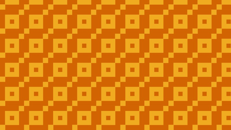 Orange Seamless Geometric Square Pattern Image