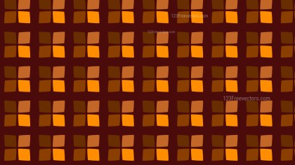 Dark Orange Geometric Square Pattern Background