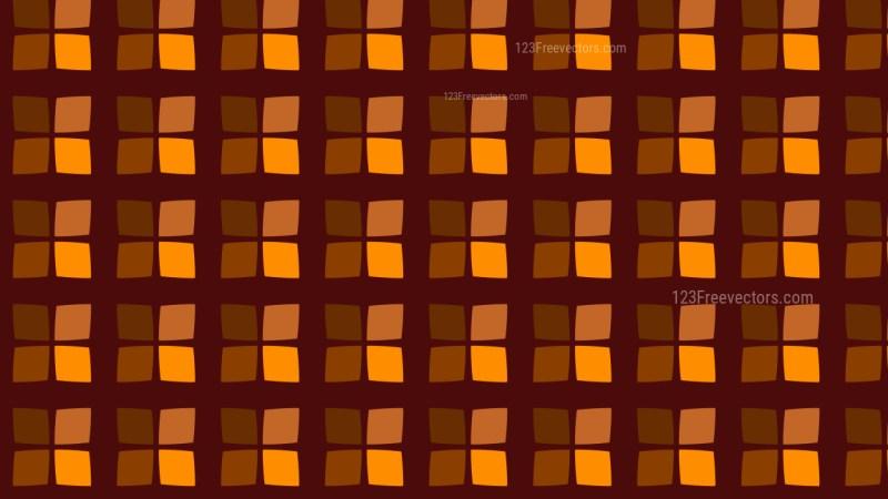 Dark Orange Geometric Square Pattern Background