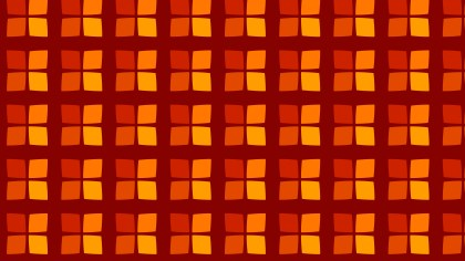 Dark Orange Geometric Square Background Pattern