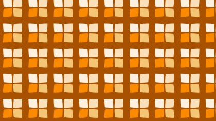 Orange Seamless Square Pattern