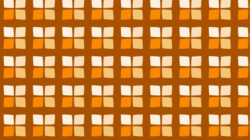 Orange Seamless Square Pattern