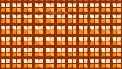 Orange Seamless Square Background Pattern