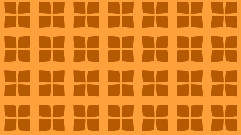 Orange Seamless Geometric Square Pattern Background