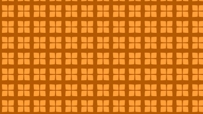 Orange Seamless Geometric Square Background Pattern