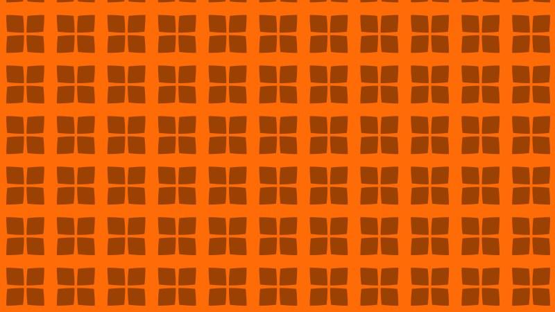 Orange Square Pattern Background Vector Art