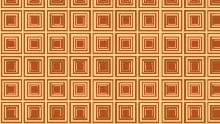 Orange Concentric Squares Background Pattern