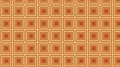 Orange Concentric Squares Background Pattern