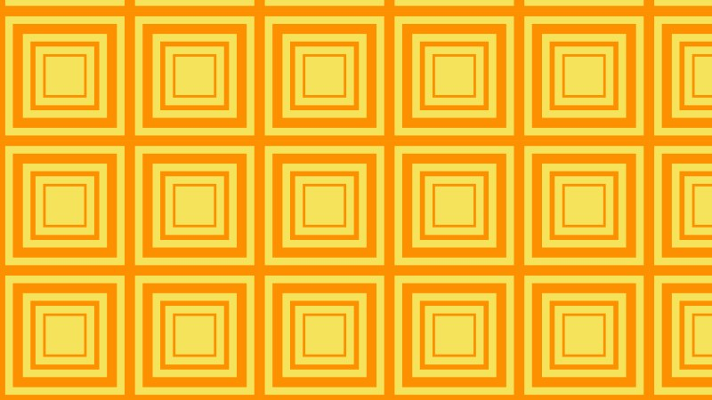 Amber Color Seamless Concentric Squares Pattern Background