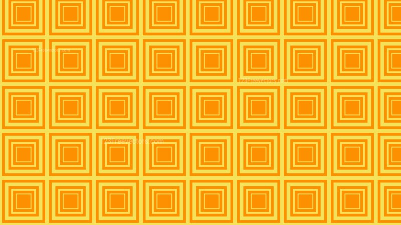 Amber Color Seamless Concentric Squares Background Pattern