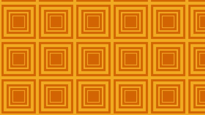 Orange Concentric Squares Pattern Design