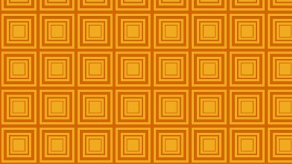 Orange Concentric Squares Pattern Background Image