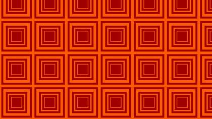 Dark Orange Concentric Squares Background Pattern Vector Graphic