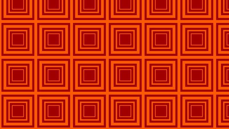 Dark Orange Concentric Squares Background Pattern Vector Graphic