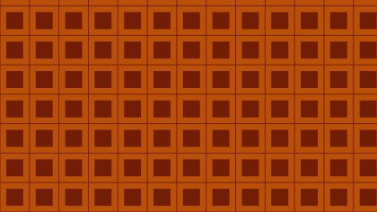 Dark Orange Seamless Geometric Square Pattern Vector Illustration