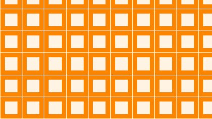 Orange Seamless Geometric Square Pattern Background Vector