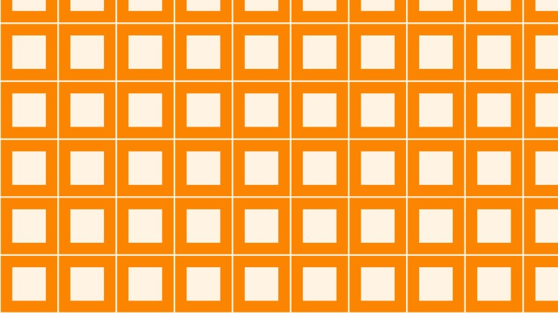 Orange Seamless Geometric Square Pattern Background Vector
