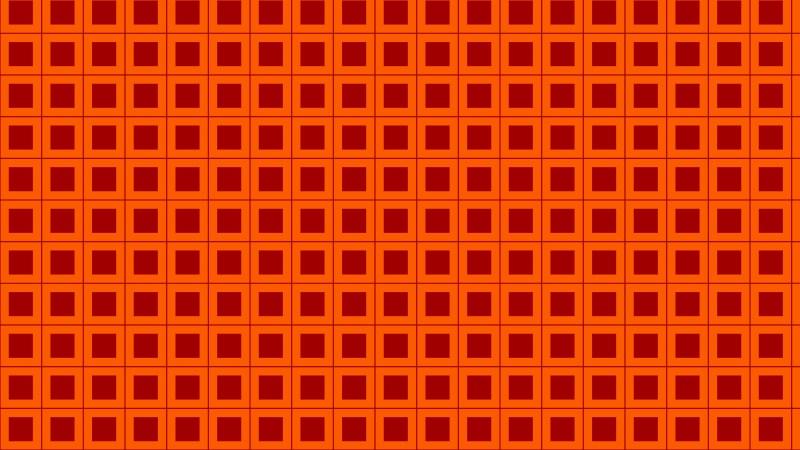Dark Orange Square Pattern