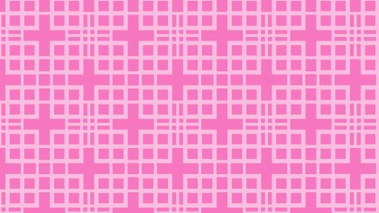 Rose Pink Seamless Geometric Square Pattern