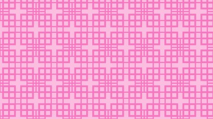 Rose Pink Seamless Geometric Square Pattern Background