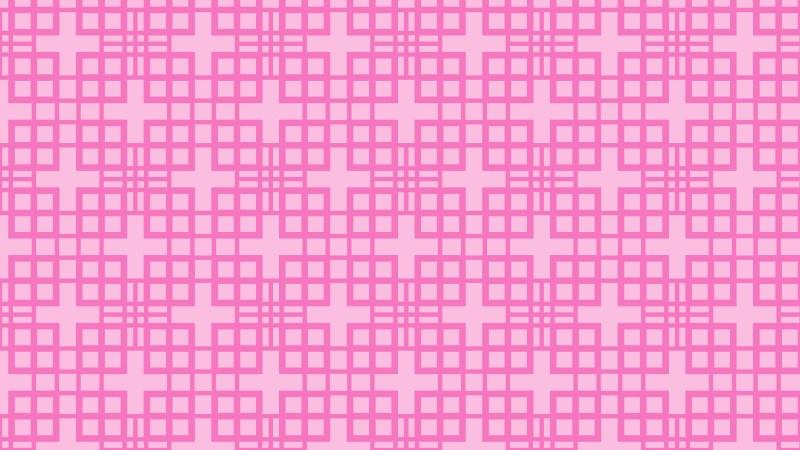 Rose Pink Seamless Geometric Square Pattern Background