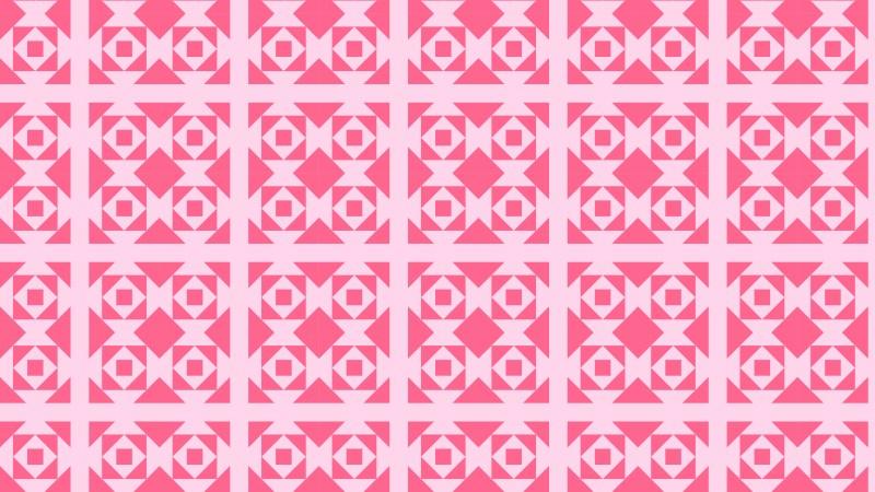 Pink Seamless Square Pattern Design