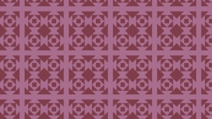 Pink Seamless Geometric Square Pattern Vector Image